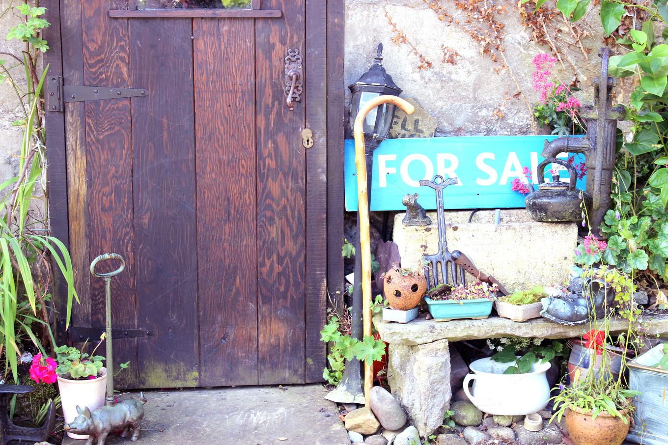 """Cottage Front Door """"For Sale"""" Sign ~ Abstract Photos on ..."""