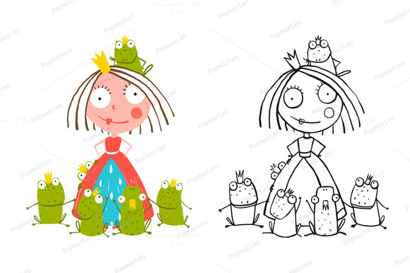 Princess And Prince Frogs Portrait