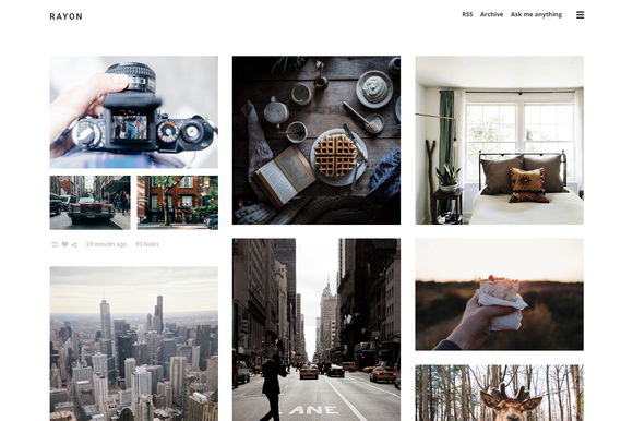 Rayon - Grid Tumblr Theme