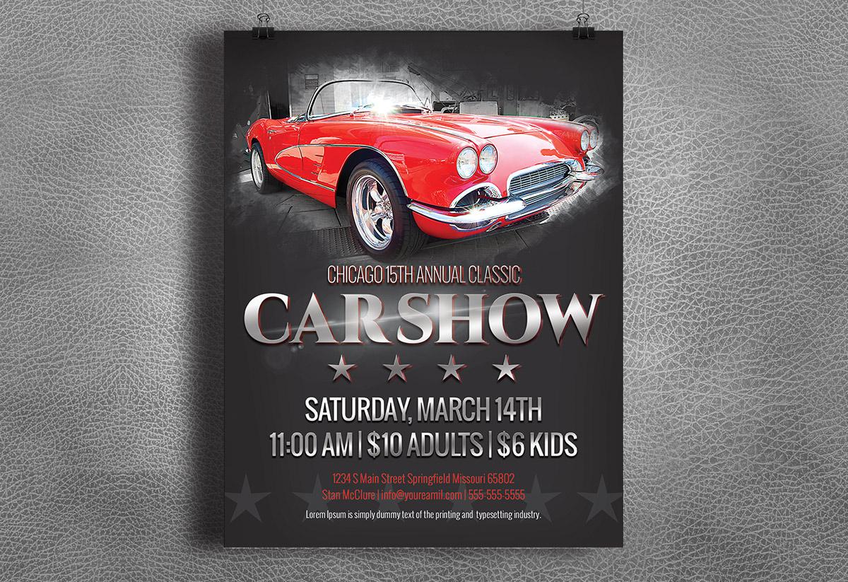 car show flyer   classic