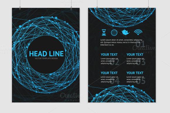 Vector Abstract Sphere Brochure