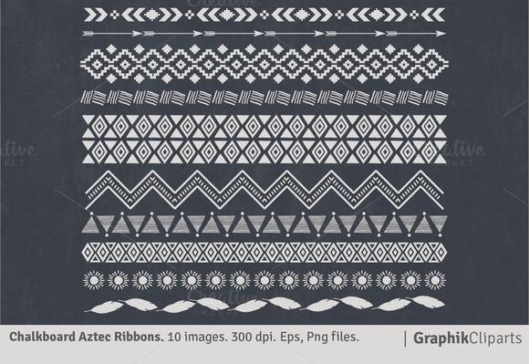 Chalkboard Aztec Ribbons
