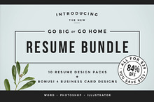 Go Big or Go Home! The Resume Bundle