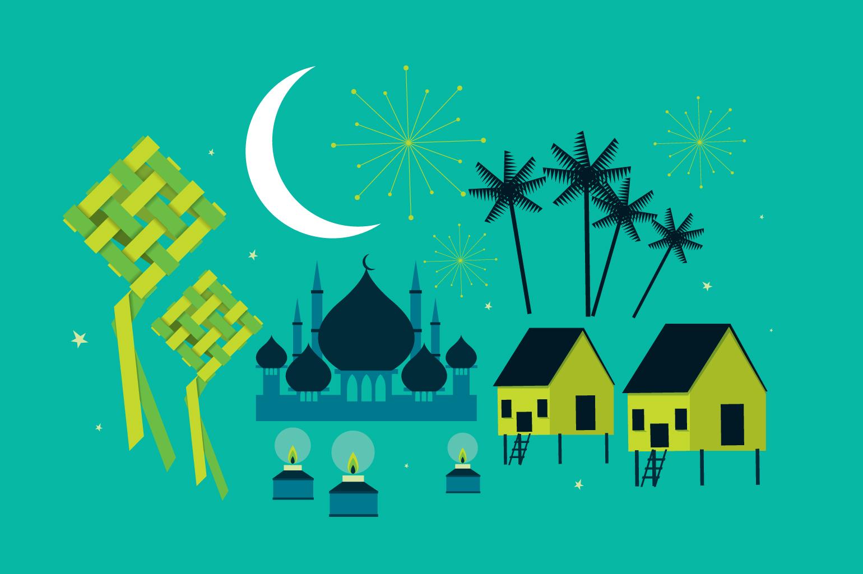hari raya elements vector ~ Illustrations on Creative Market