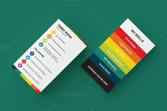 ... Media Business Card 61 ~ Business Card Templates on Creative Market