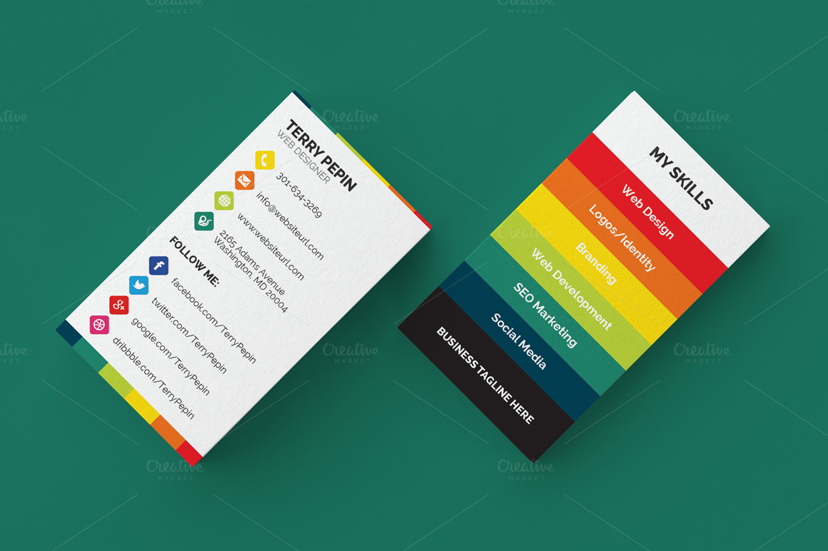 social media business card 61 business card templates on