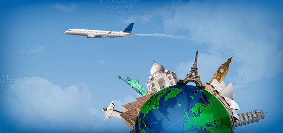 Travel Around The World Concept Air