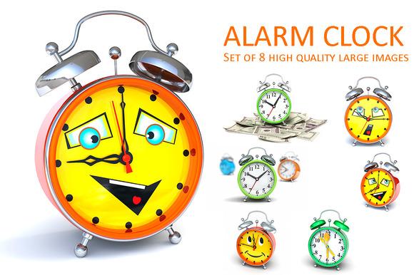 Alarm clock. Set - Objects