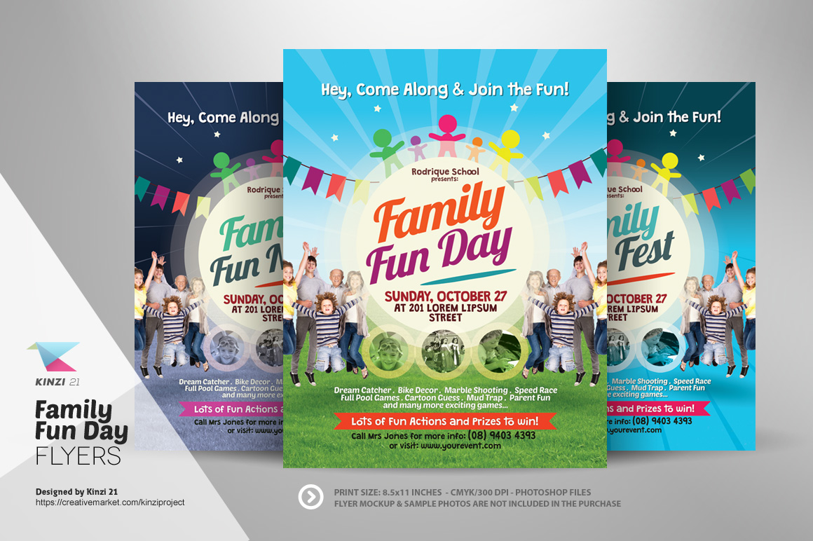 sports day poster template - family fun day flyers flyer templates on creative market