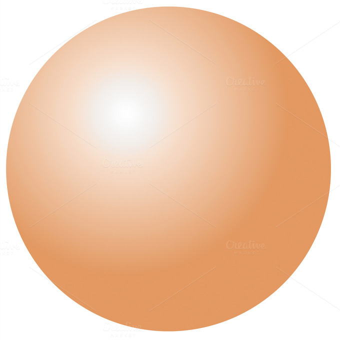 Illustration Of Metallic Sphere