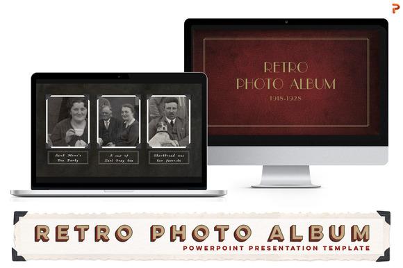 retro photo album ppt template presentation templates on