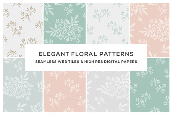 Floral Seamless Web Titles Papers