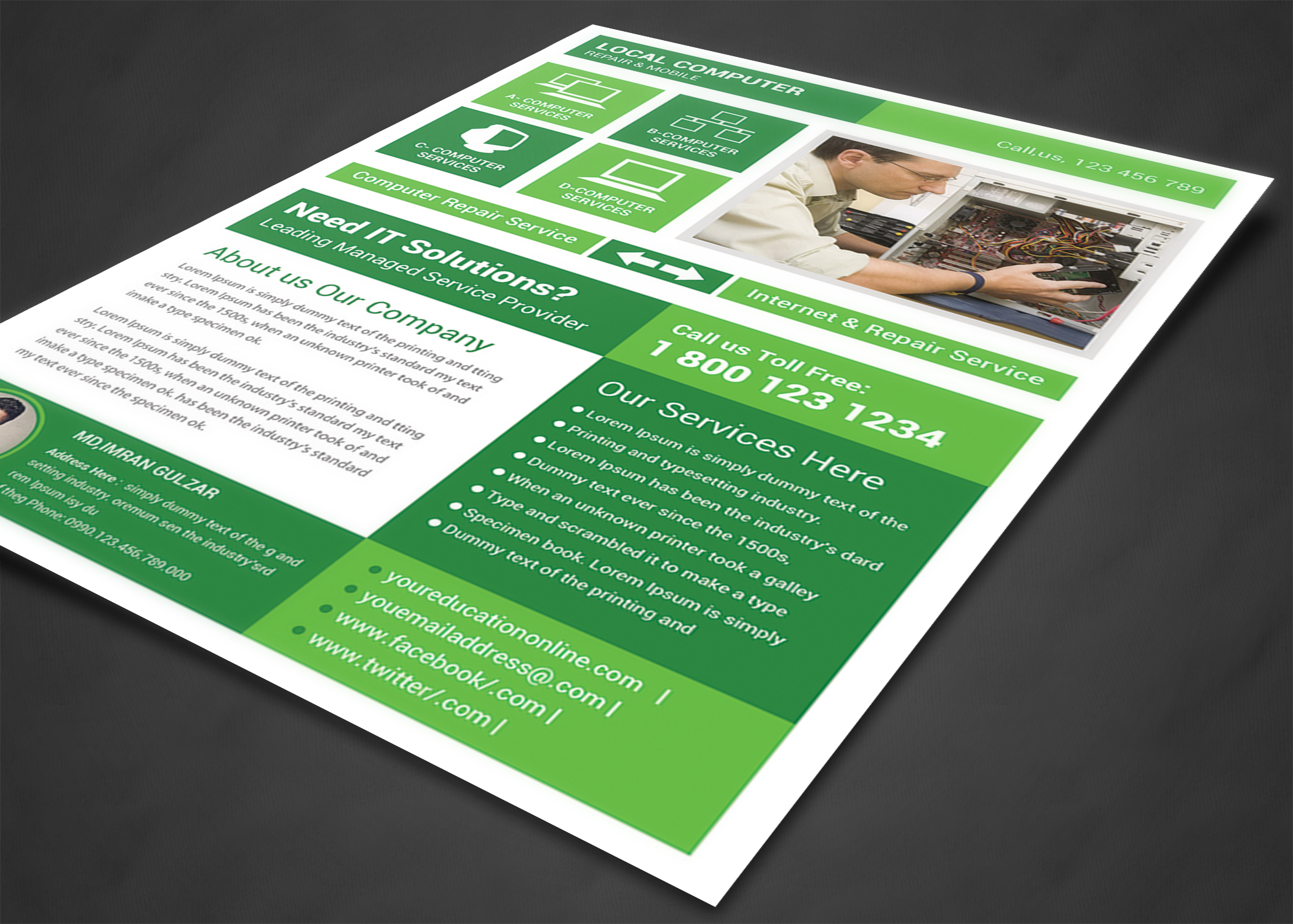 create amazing computer repair flyers for your business by customizing our easy to use templates add your content and be done in minutes free downloads