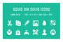 Squid Ink Solid Icon Pack-Graphicriver中文最全的素材分享平台