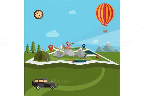 flat design Adventure Vol.2 - Illustrations