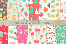 Food and Drink Seamless Patterns