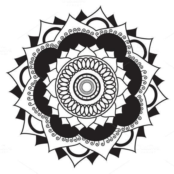 Mandala.Pagan symbol - Illustrations