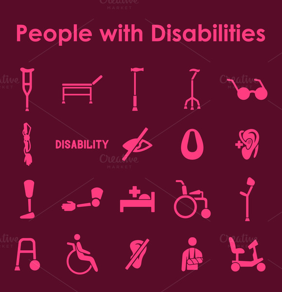 People With Disabilities Icons