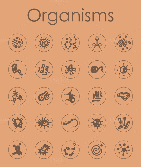Organisms Simple Icons