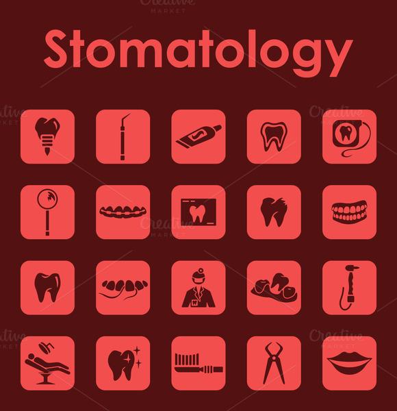 Stomatology Simple Icons