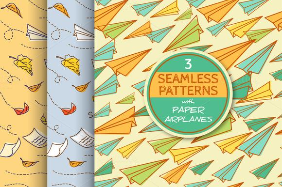 3 Paper Airplane Patterns