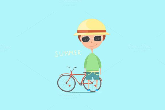 Vector illustration.Summer time. - Illustrations
