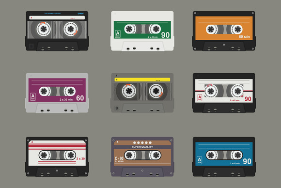 Audio cassette. Flat tapes - Objects