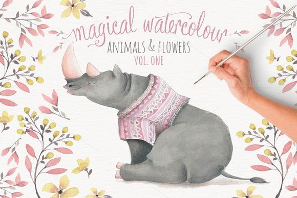 Magical Watercolor Graphics Volume 1
