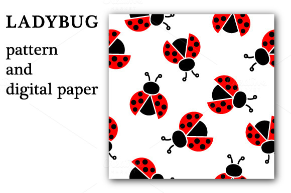 Ladybug Pattern And Digital Paper
