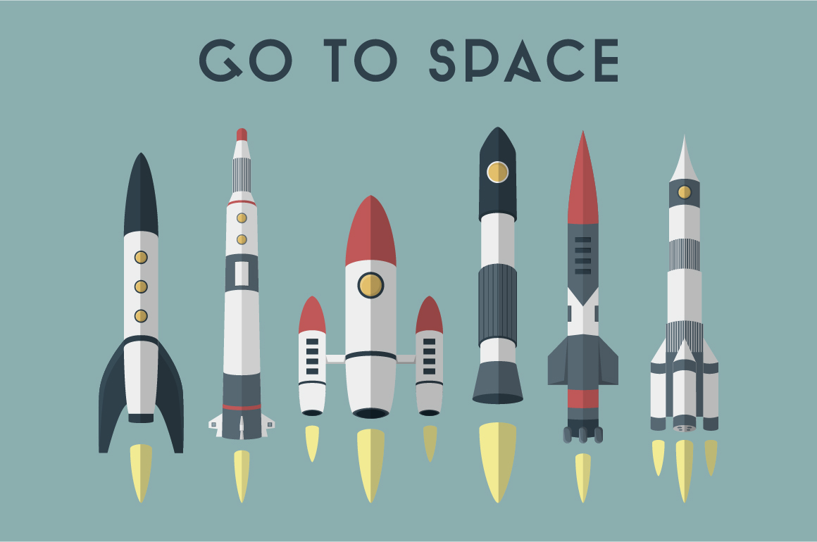 going to space rockets - photo #31