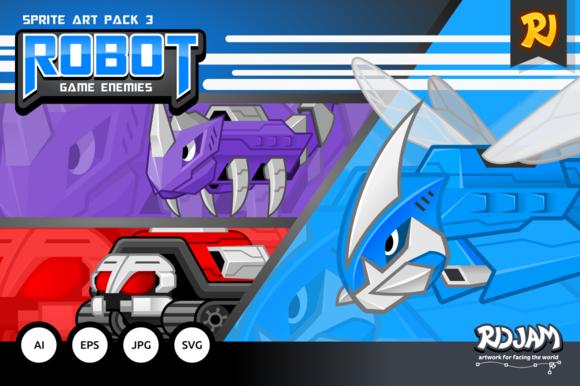 Robot Game Enemies Sprite Art Pack 3