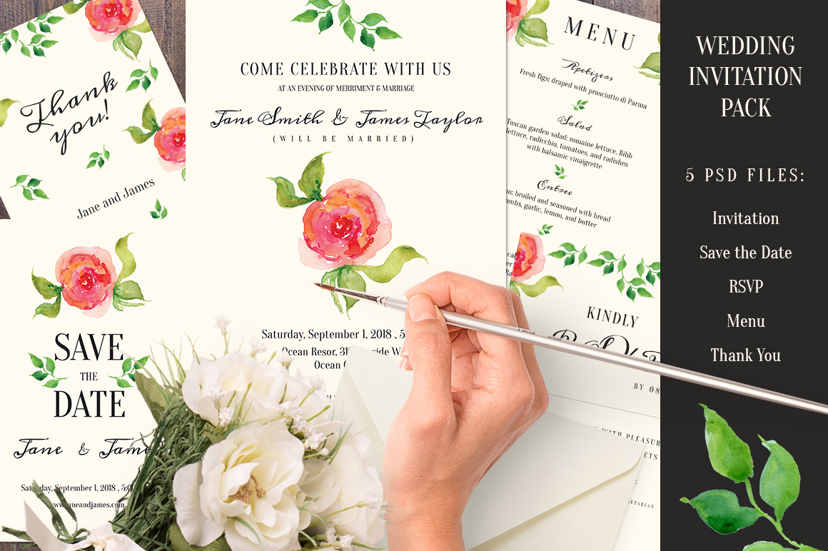 What To Include In A Wedding Invitation Pack: Invitation Templates On Creative