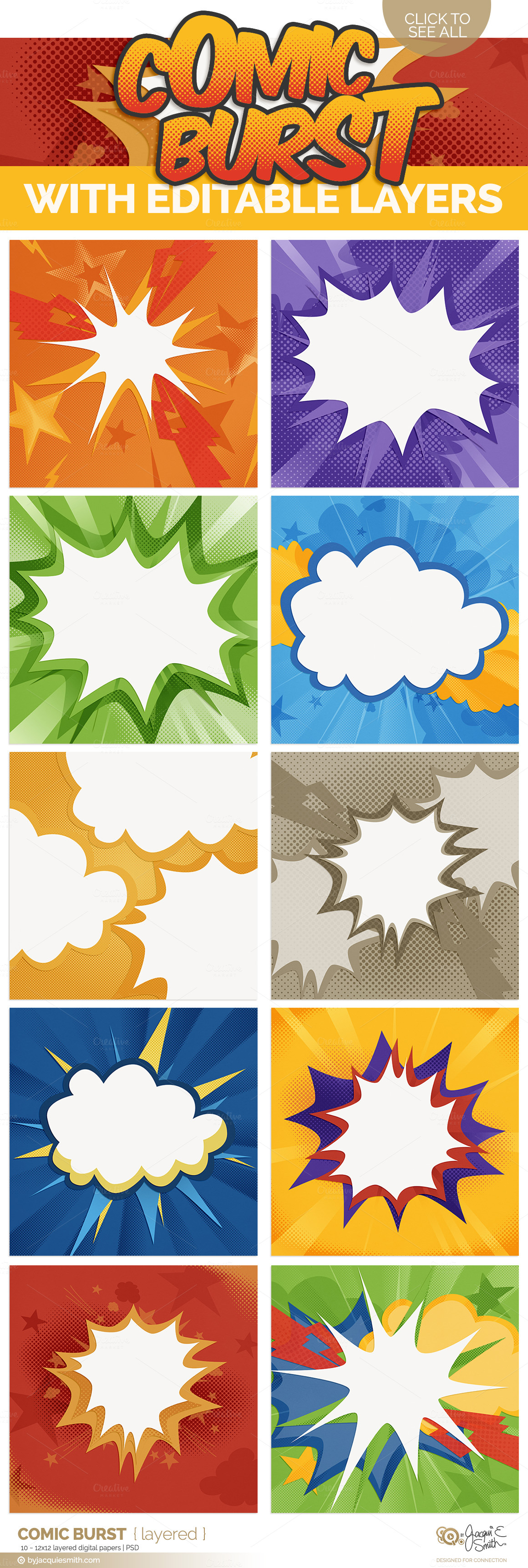 comic book page template psd - comic burst layered psd backgrounds templates on