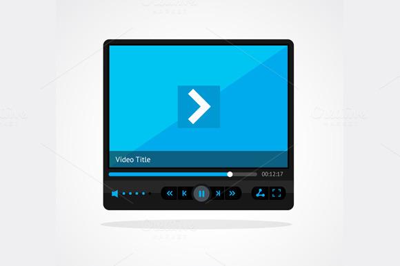 Vector Video Player Skin Set