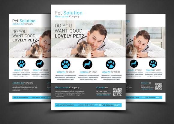 Pet Solution Flyer Template