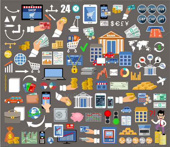 Set Of Icons For Internet-banking
