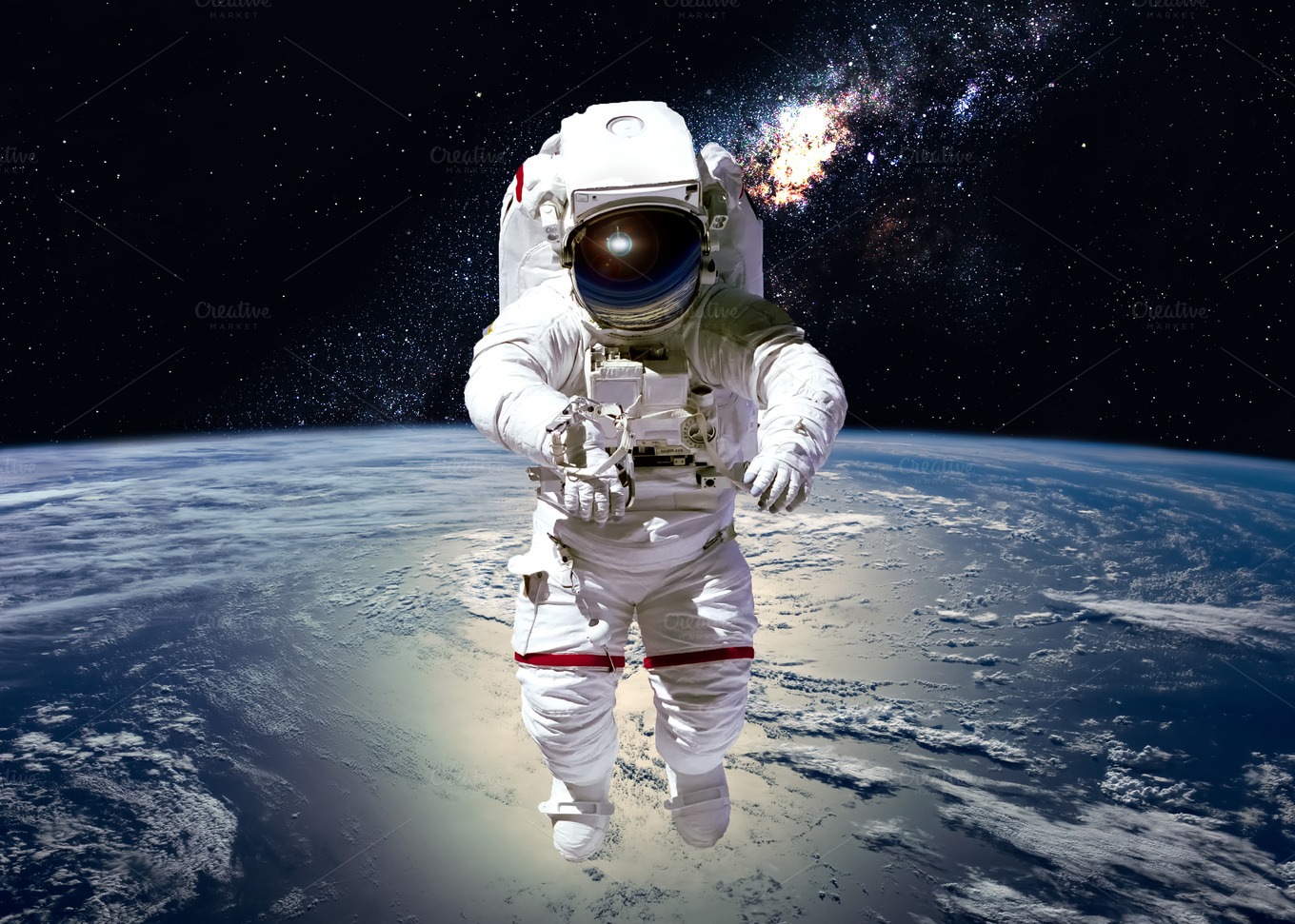 astronaut in outer space - photo #1