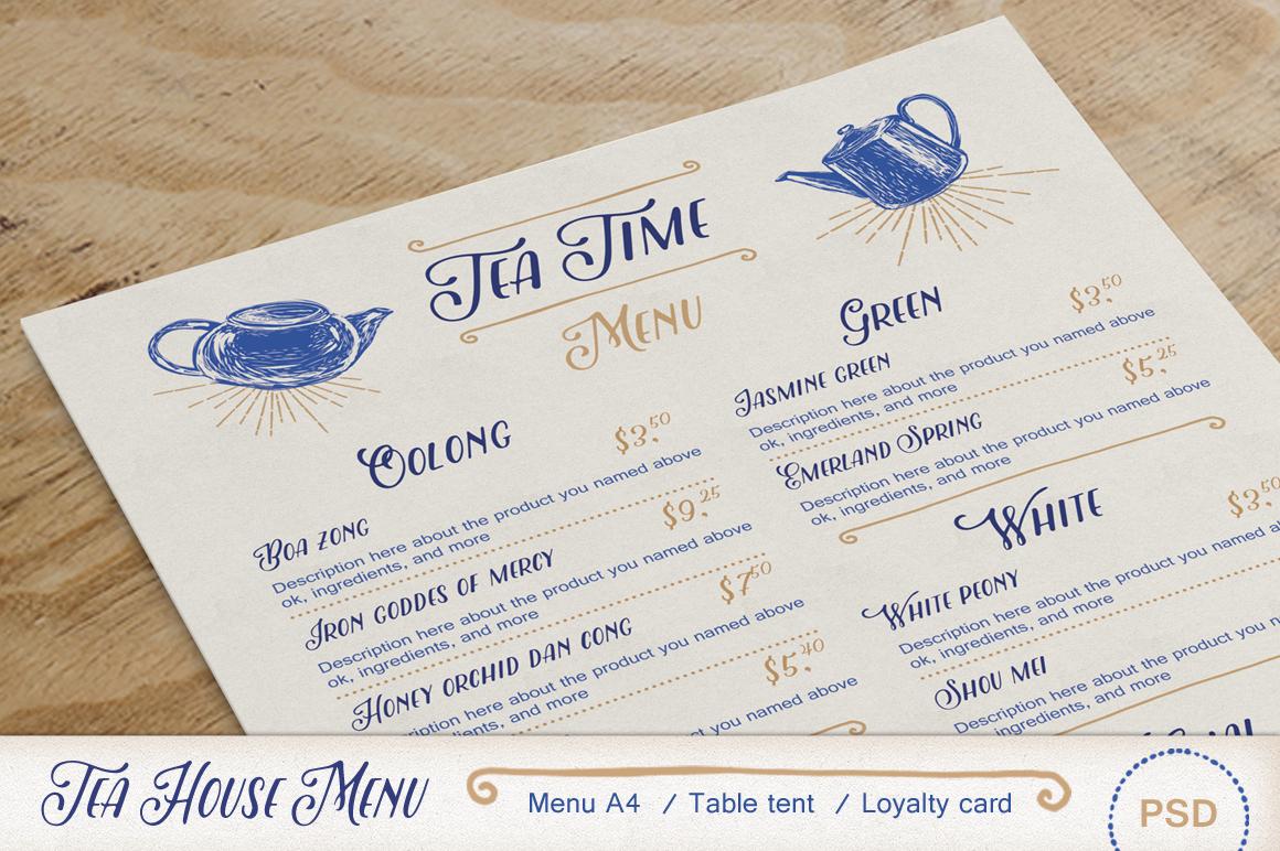 Tea House Menu Pack Brochure Templates On Creative Market