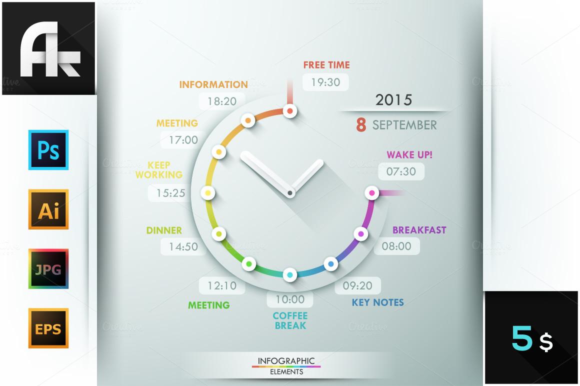 infographic timeline template presentation templates on creative market. Black Bedroom Furniture Sets. Home Design Ideas