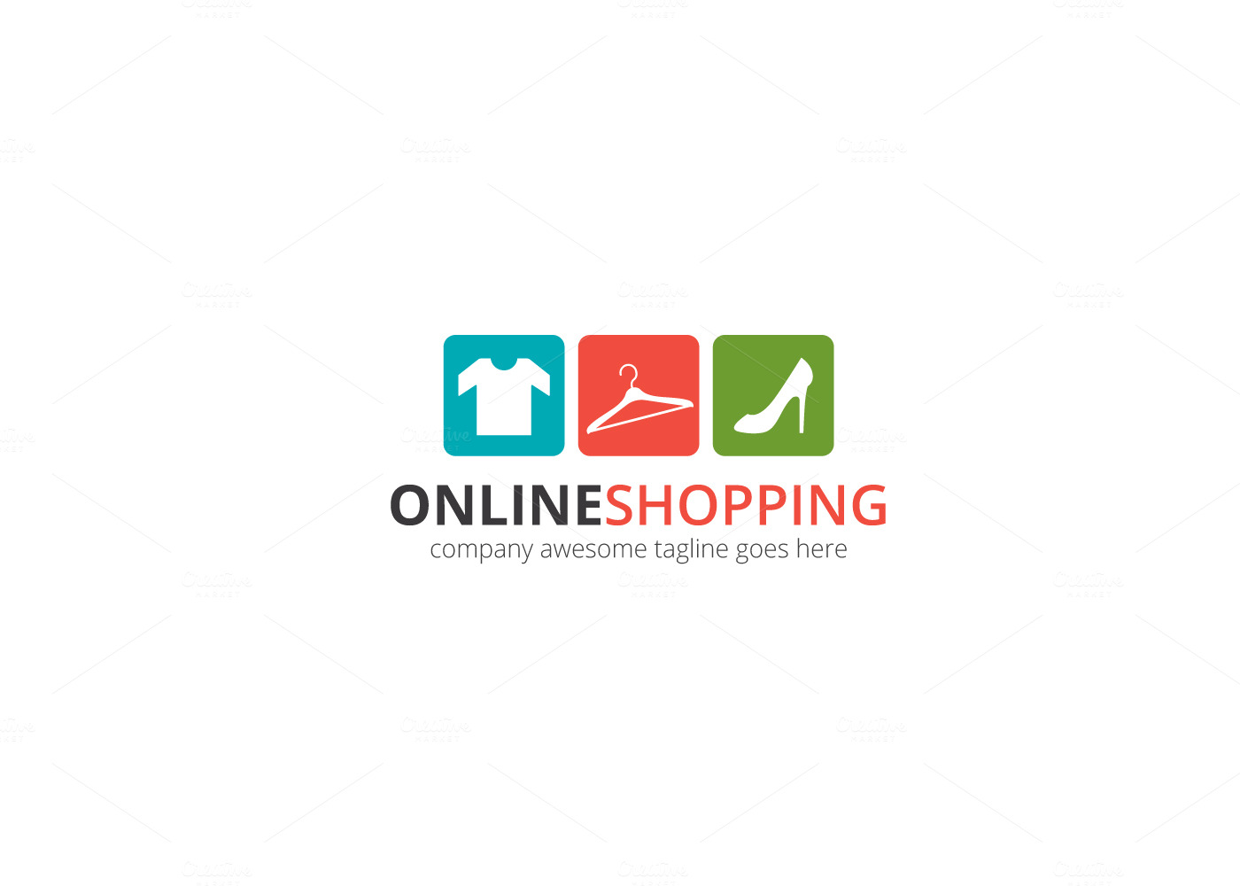Online Shopping Logo Logo Templates On Creative Market