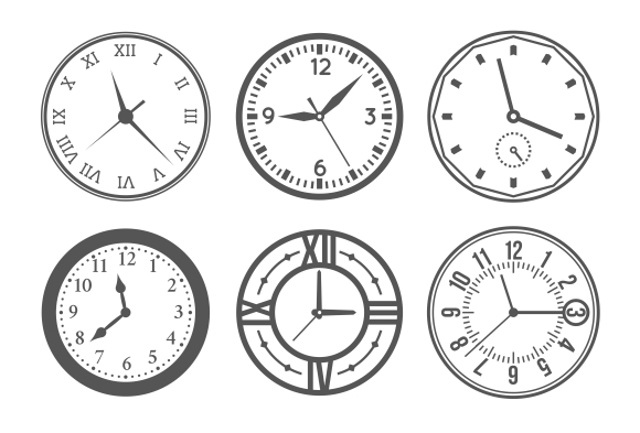Wall clock icons ~ Graphics on Creative Market