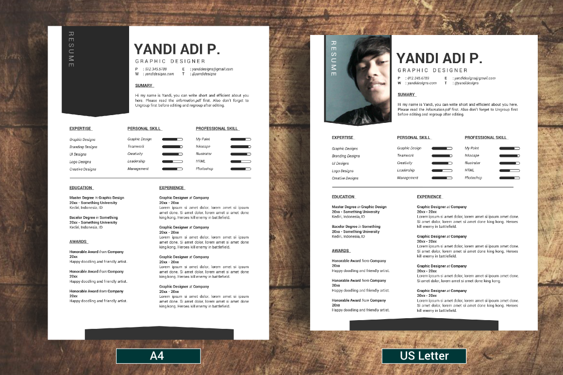 modern vintage resumes cv resume templates on creative