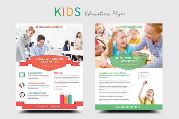 Kids Education School Flyers Flyer Templates On Creative