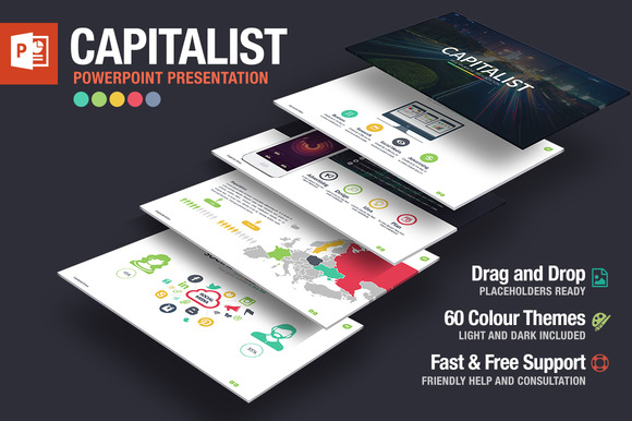 CM - Capitalist Powerpoint Template 296874
