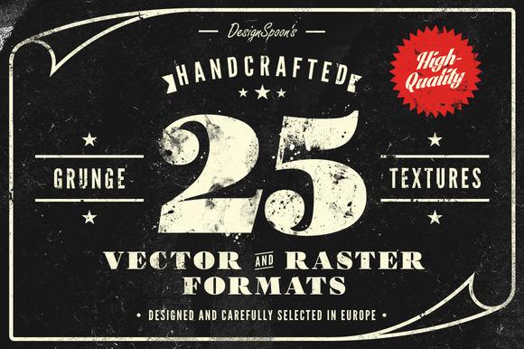 25 Handcrafted Grunge Textures
