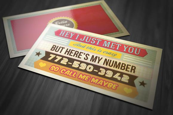 Funny Retro Business Card