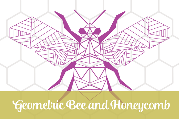 Geometric Bee And Honeycomb