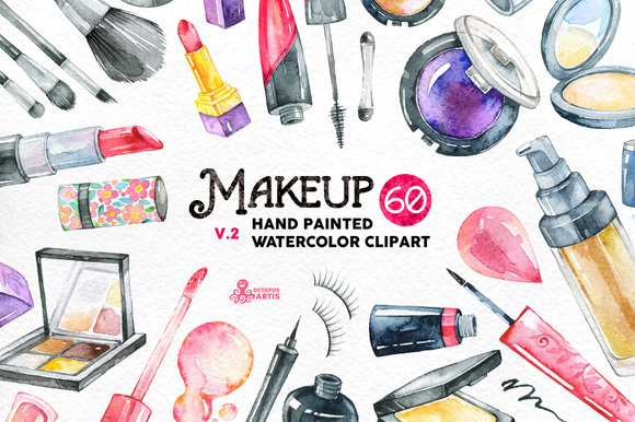 Watercolor Makeup v.2 - Objects