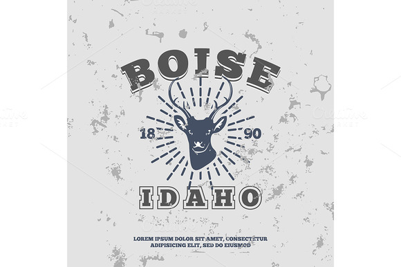 Boise, Idaho. t-shirt graphic - Illustrations