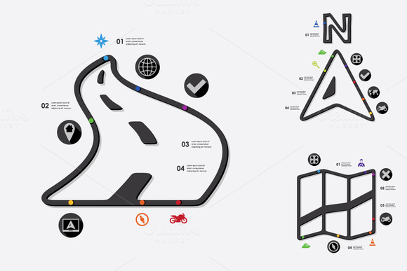 9 navigation infographic ~ Icons on Creative Market